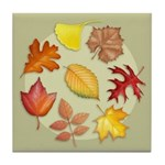 Leaves Tile Coaster