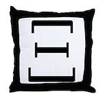 Greek Alphabet Xi Throw Pillow