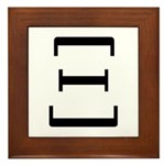 Greek Alphabet Xi Framed Tile