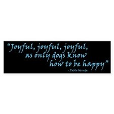 Joyful! Text Bumper Bumper Sticker