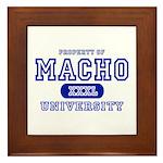 Macho University Framed Tile