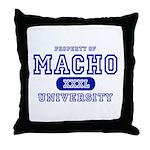 Macho University Throw Pillow