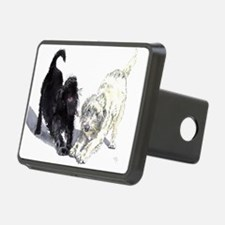 Stretching Labradoodles Hitch Cover