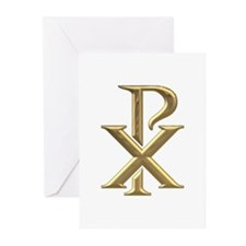 Golden 3-D Chiro Greeting Cards (Pk of 20)