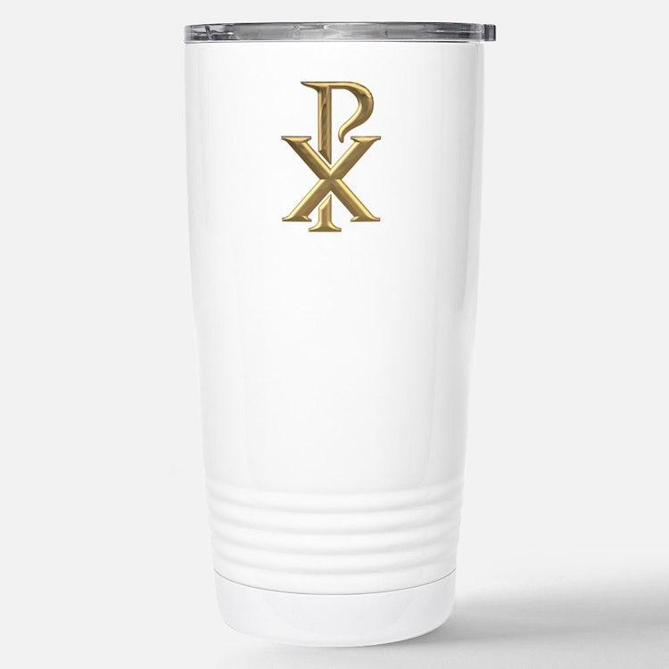 Golden 3-D Chiro Travel Mug
