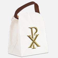 Golden 3-D Chiro Canvas Lunch Bag