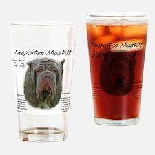 Cute Neapolitan mastiff Drinking Glass