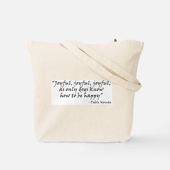 Joyful! w/URL Tote Bag