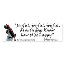 Joyful! w/URL Bumper Bumper Sticker