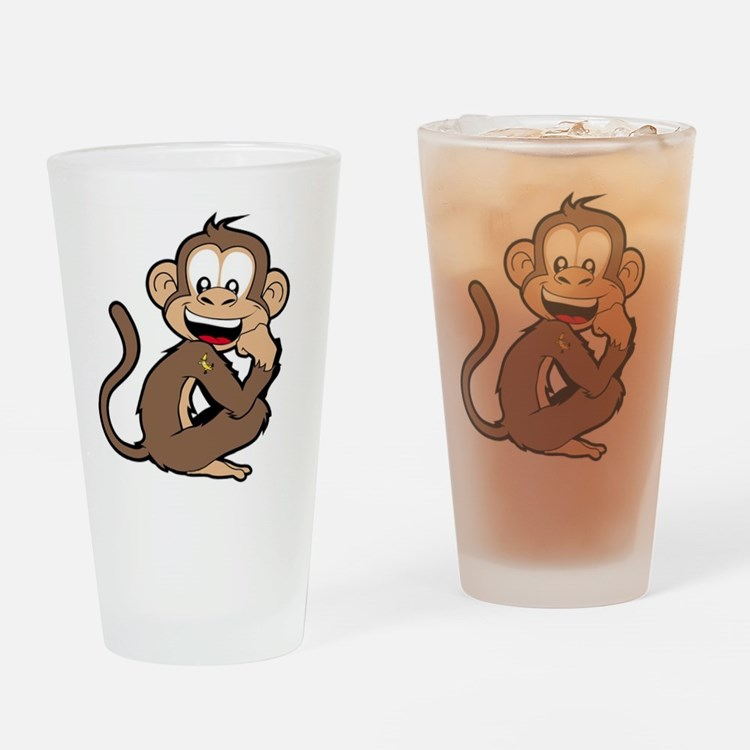 cheeky Monkey Drinking Glass