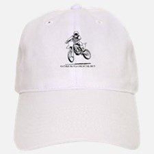 Rather be playing inthe dirt with motorbike Baseball Baseball Cap