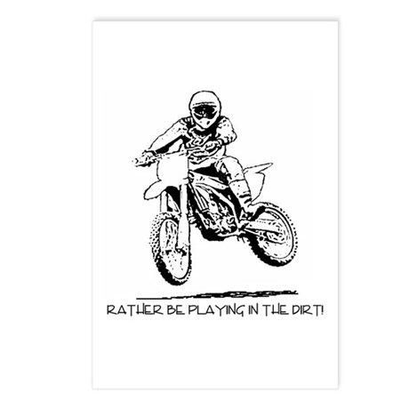 Rather be playing inthe dirt with motorbike Postca