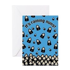 It's Raining Nuns Greeting Card