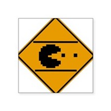 Classic arcade street crossing sign Square Sticker