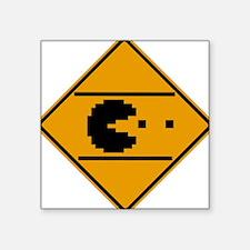 Classic arcade street crossing sign Square Sticker
