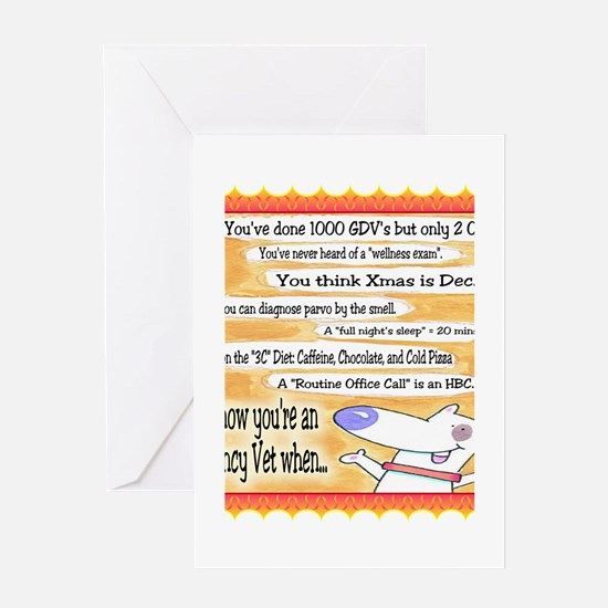 You know youre an er vet Greeting Cards