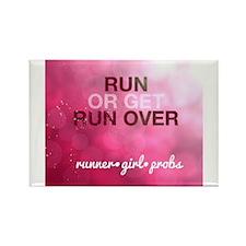 Run or Get Run Over Rectangle Magnet
