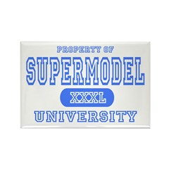 Supermodel University Rectangle Magnet