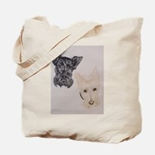 Baylee Buttons Scottish Terrier Scottie Tote Bag