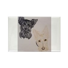 Baylee Buttons Scottish Terrier Scottie Rectangle