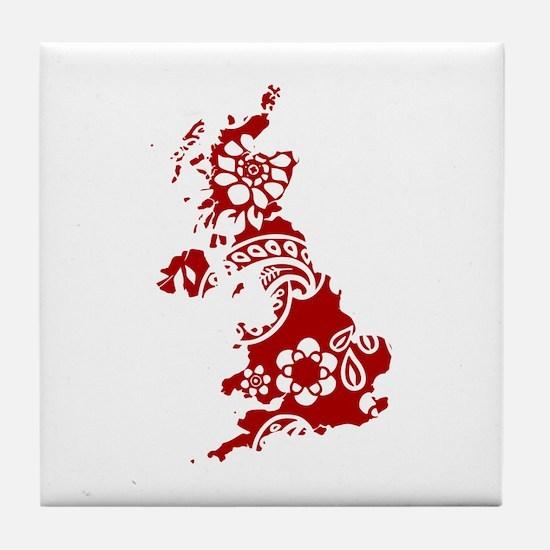 Paisley Tile Coaster