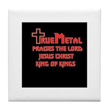 True Metal design Tile Coaster