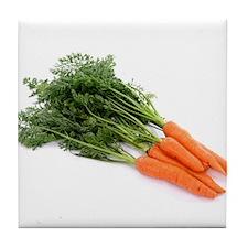 F & V - Carrot Design Tile Coaster