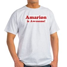Amarion is Awesome Ash Grey T-Shirt