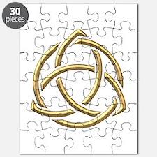 "Golden ""3-D"" Holy Trinity Symbol 1 Puzzle"