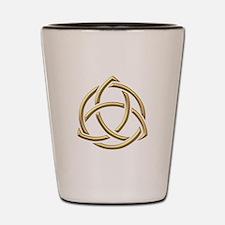 "Golden ""3-D"" Holy Trinity Symbol 1 Shot Glass"