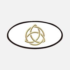 "Golden ""3-D"" Holy Trinity Symbol 1 Patches"