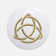 "Golden ""3-D"" Holy Trinity Symbol 1 Ornament (Round"