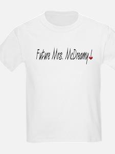 Future Mrs. McDreamy Kids T-Shirt
