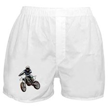 Playing in the dirt with a motorbike Boxer Shorts