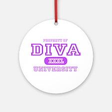 Diva University Ornament (Round)