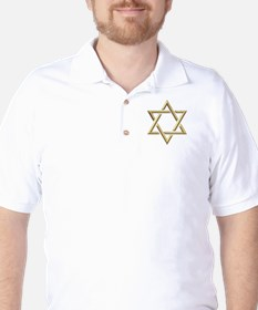 "Golden ""3-D"" Star of David T-Shirt"