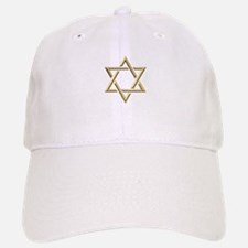 "Golden ""3-D"" Star of David Baseball Baseball Cap"