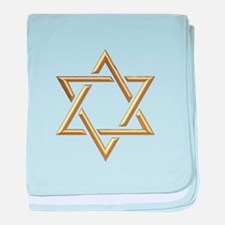 "Golden ""3-D"" Star of David baby blanket"