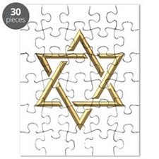 "Golden ""3-D"" Star of David Puzzle"