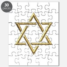 "Golden ""3-D"" Star of David Puzzle"
