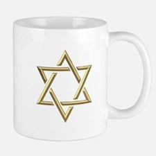 "Golden ""3-D"" Star of David Mug"