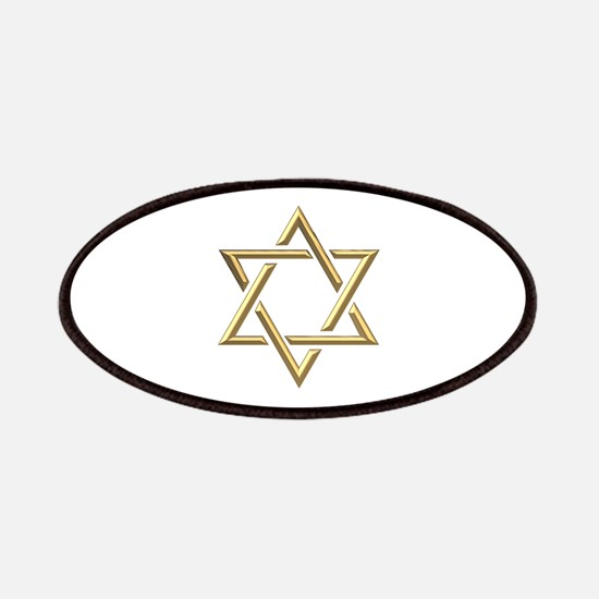 "Golden ""3-D"" Star of David Patches"