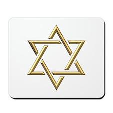 "Golden ""3-D"" Star of David Mousepad"