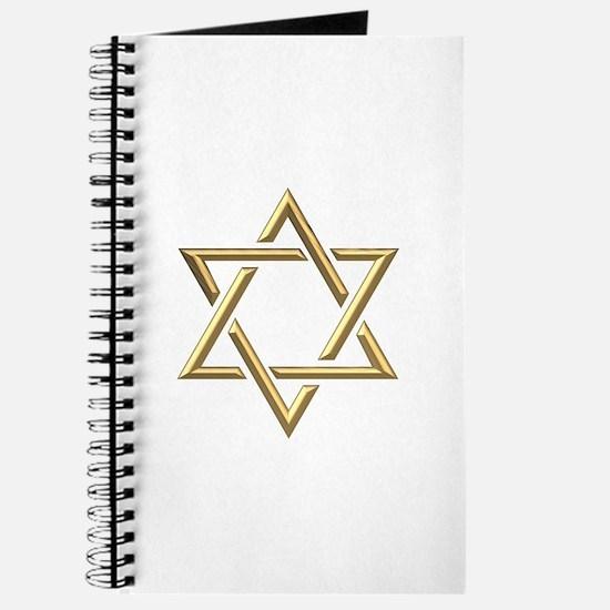 """Golden """"3-D"""" Star of David Journal"""