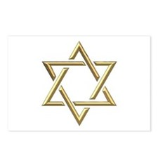 "Golden ""3-D"" Star of David Postcards (Package of 8"