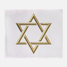 "Golden ""3-D"" Star of David Throw Blanket"