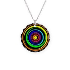 Abstract Rainbow Circles Necklace Circle Charm