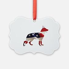 Patriotic German Shepherds Ornament