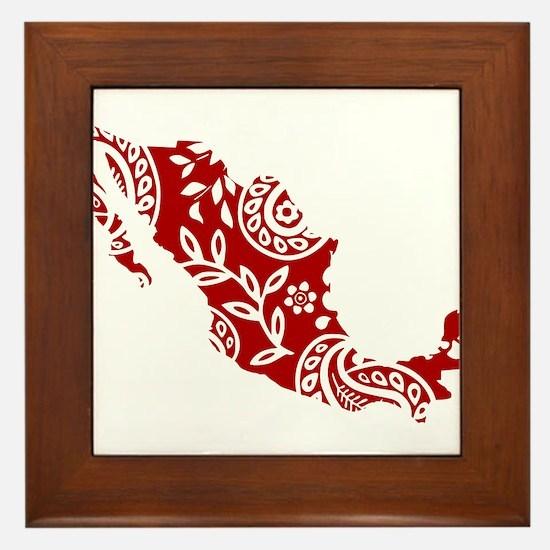 Red Framed Tile