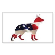 Patriotic German Shepherds Decal